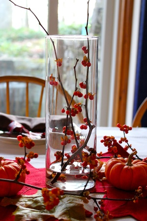 Branches and Berries for Thanksgiving Centerpiece ideas