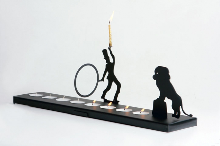 Love how cute and whimsical this Menorah is!