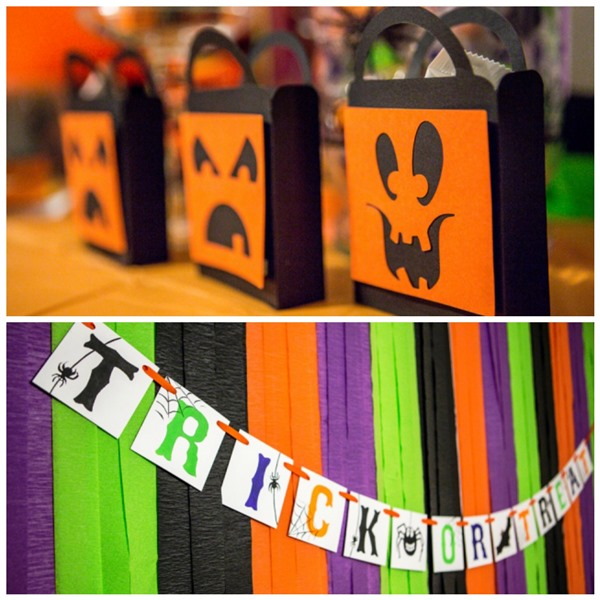 purple green orange and black Halloween Party