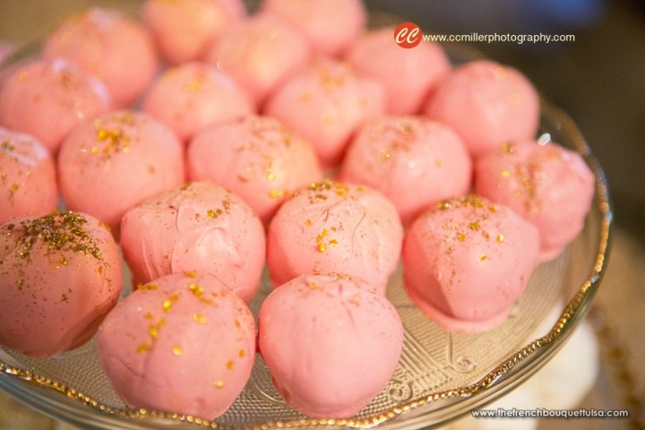 Gold glitter Cake Balls