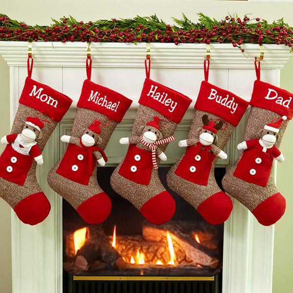 Beautiful Sock Monkey Christmas Stockings!