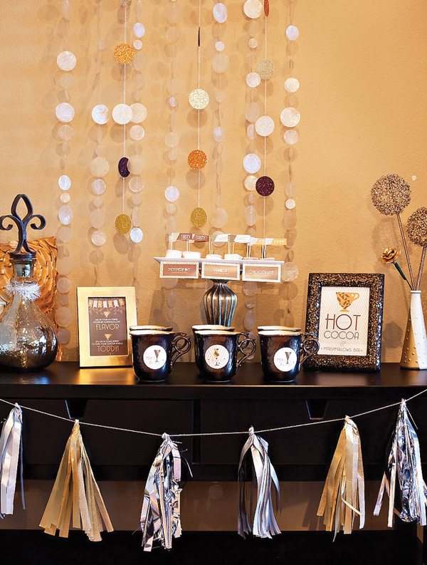 Sparkly Hot Cocoa Bar