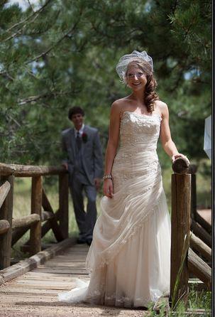 Bride and Groom wedding shot
