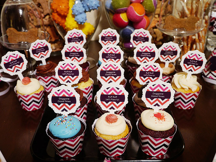 Dog party cupcakes- B. Lovely Events