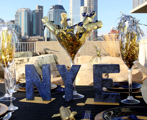 New Years Eve Blue and Gold Party