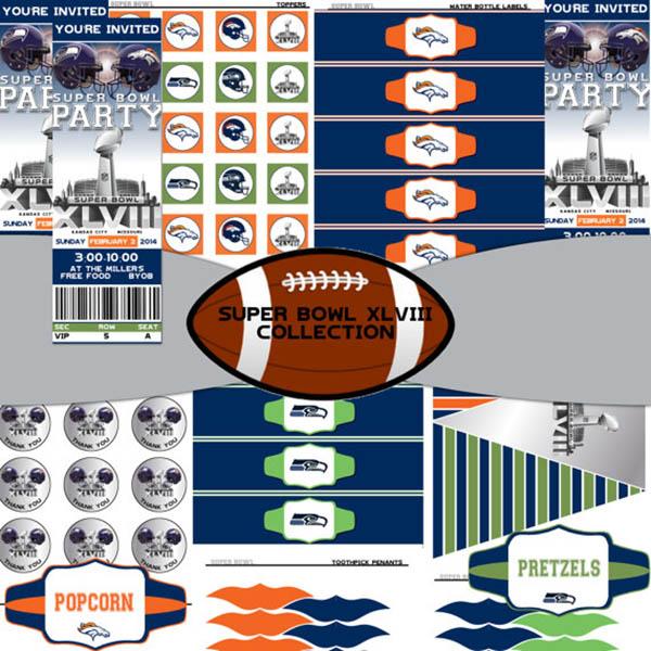 Super Bowl Party Printables!