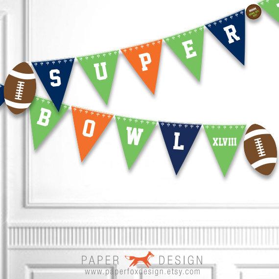 Super Bowl XLVIII printable banner!