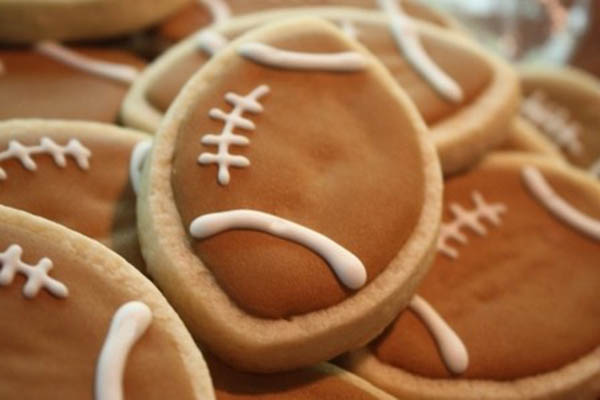Sweet football cookies!