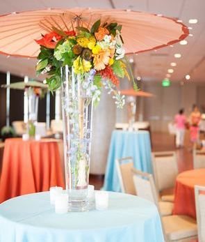 Travel themed wedding centerpieces