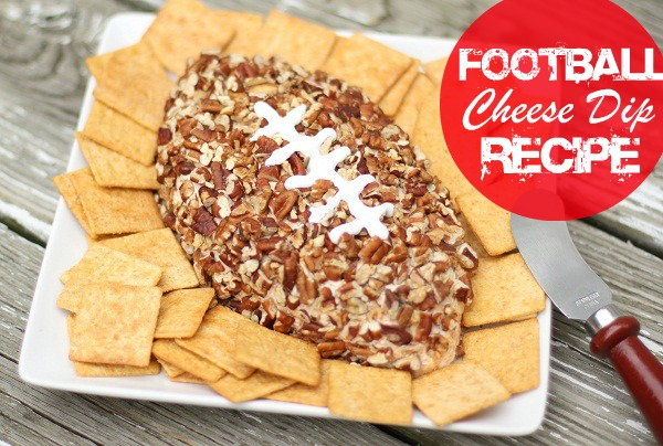 football shaped cheese dip