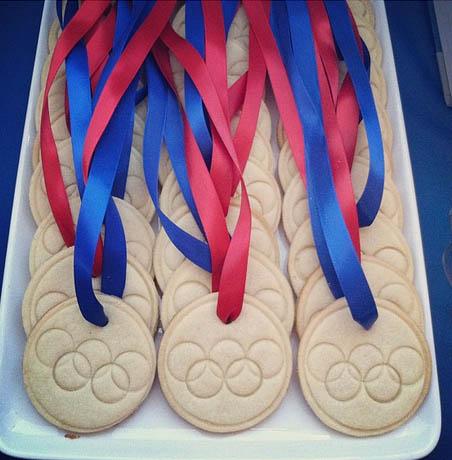 Cute Olympic Medal Cookies