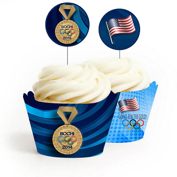 Olympic cupcake wrapper printables