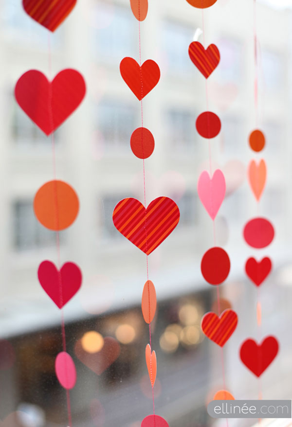 Valentine's Day heart garland