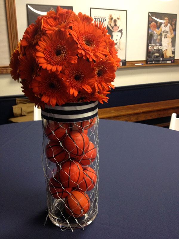 Beautiful basketball centerpiece