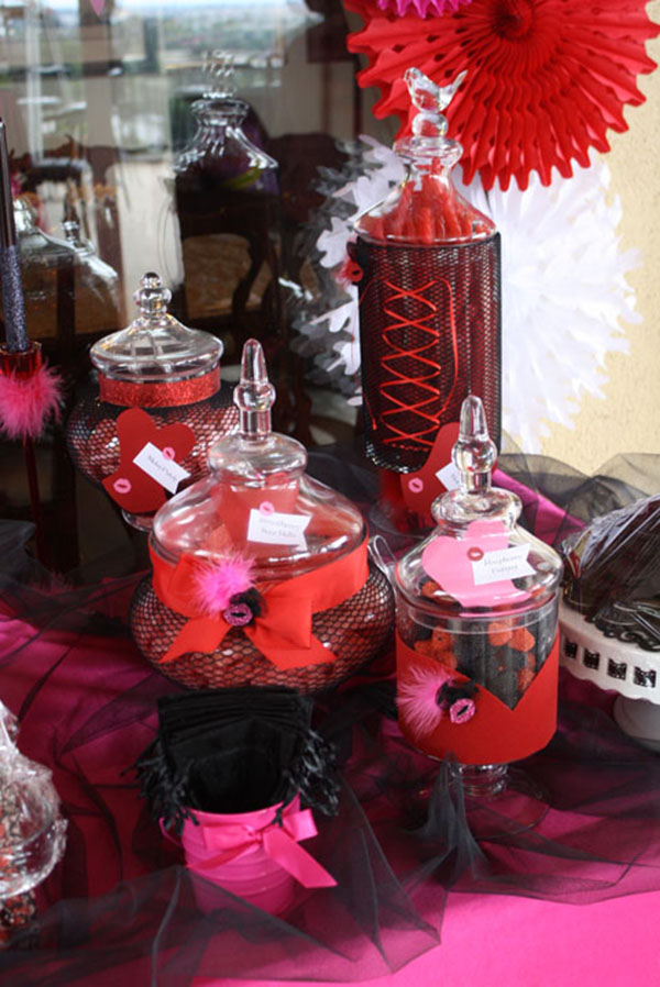 Burlesque Party Candy Bar- B. Lovely Events