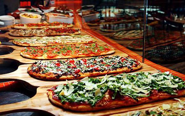Cool Wedding Reception Pizza Buffet!