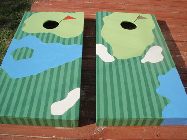 Golf Corn Hole Set- Great for a party!