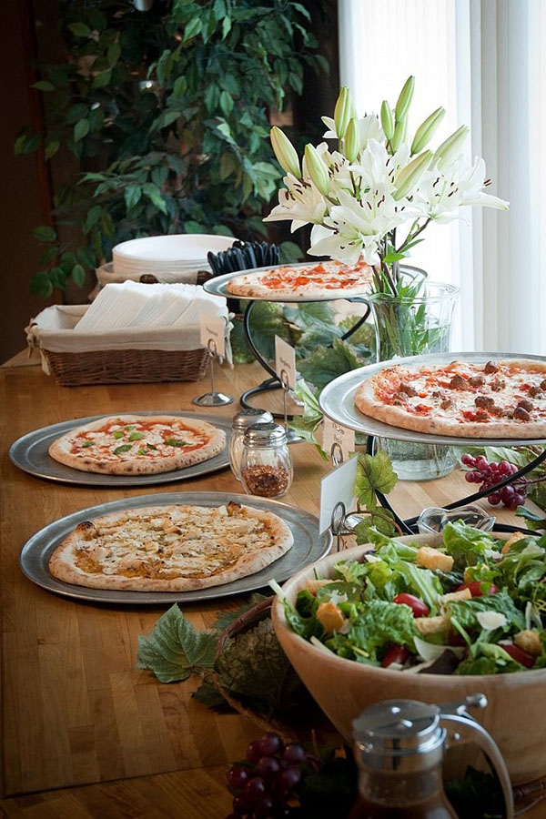 Lovely Pizza Buffet Setup!