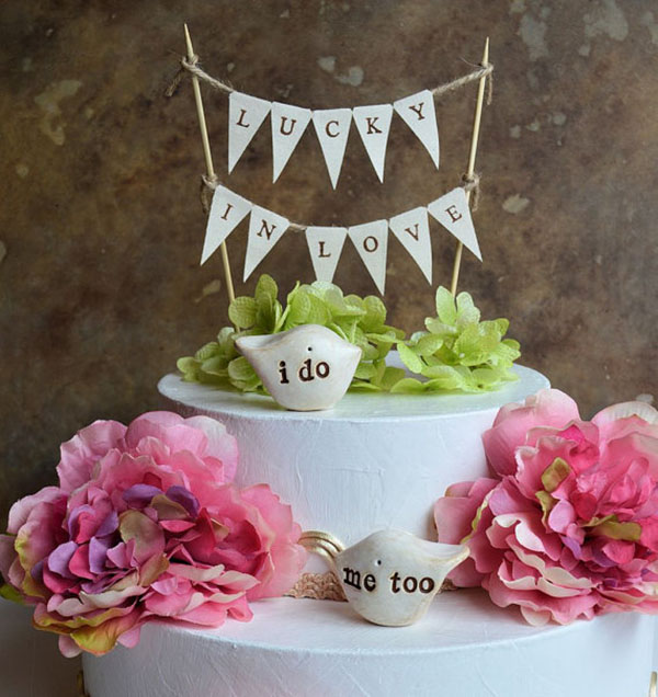 Lucky In Love Cake Topper