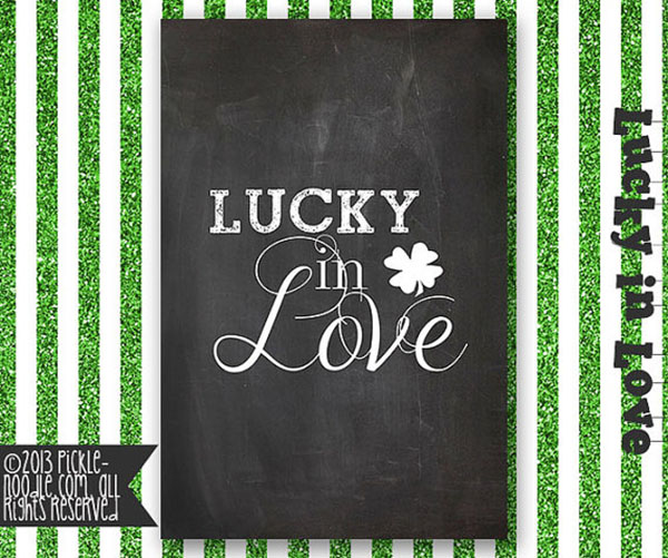 Lucky In Love Chalkboard printable