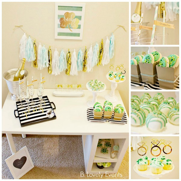Lucky In Love Engagement Party With SO Many Lovely Ideas! -B. Lovely Events
