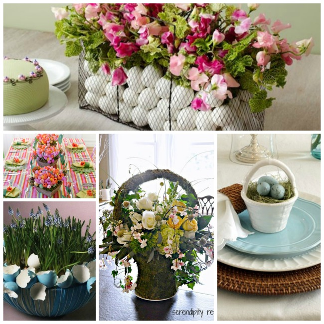 Gorgeous grown up easter basket centerpieces b lovely events easter basket centerpieces negle Image collections
