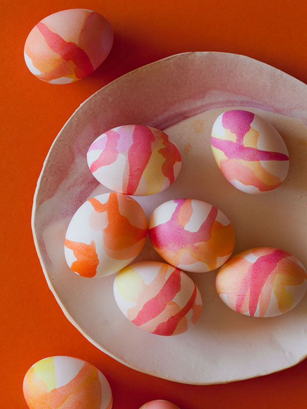 Gorgeous Watercolor Eggs!