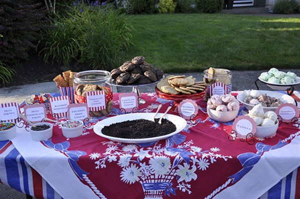 Ice Cream Cookie Bar for 4th of July or any party!