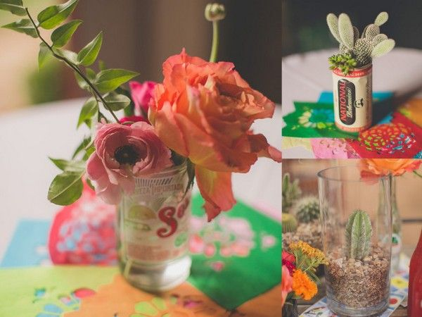 Fiesta mexican themed wedding inspiration b lovely events love these centerpiece ideas for a mexican themed wedding junglespirit Gallery