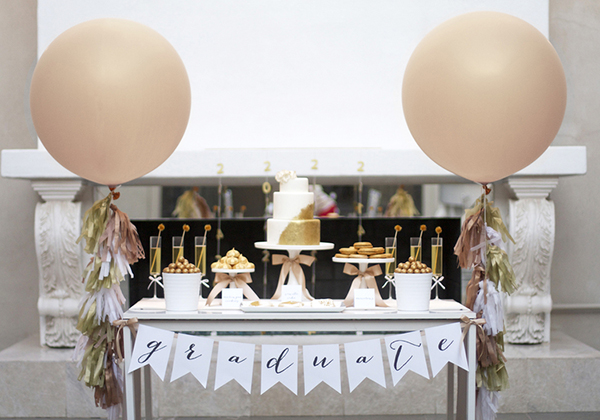Beautiful black and gold graduation party