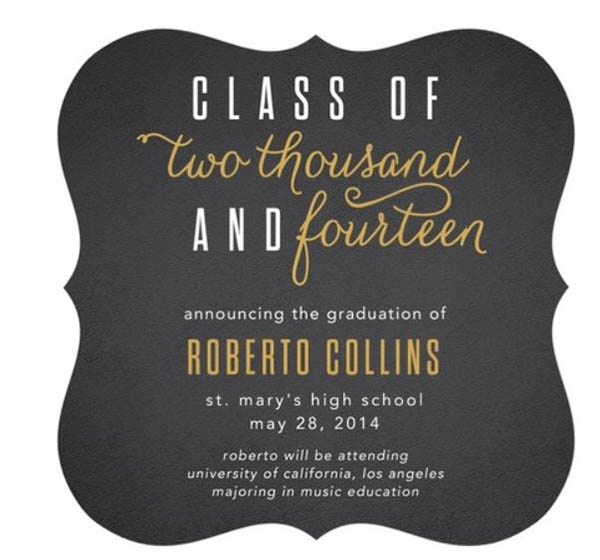 Black And Gold Graduation Party B Lovely Events – Black and Gold Graduation Invitations