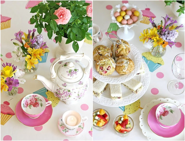 Lovely vintage tea party for mother's day!