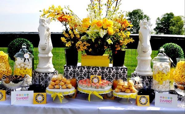 Yellow Modern Kentucky Derby Dessert bar