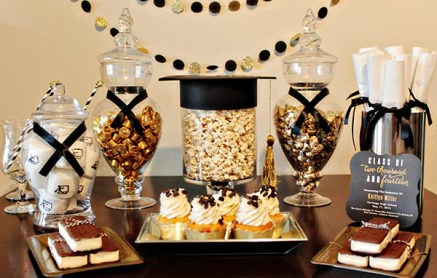 candy bars are the perfect diy graduation party ideas