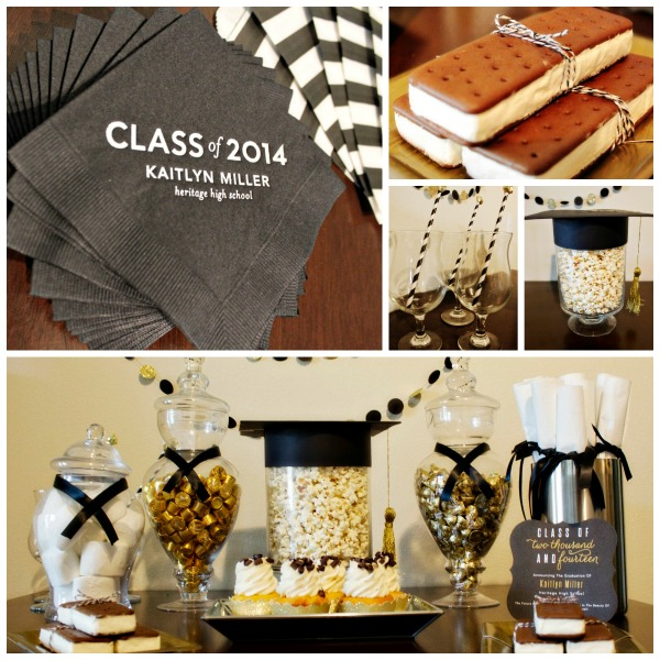 Black and Gold Graduation Party- B. Lovely Events