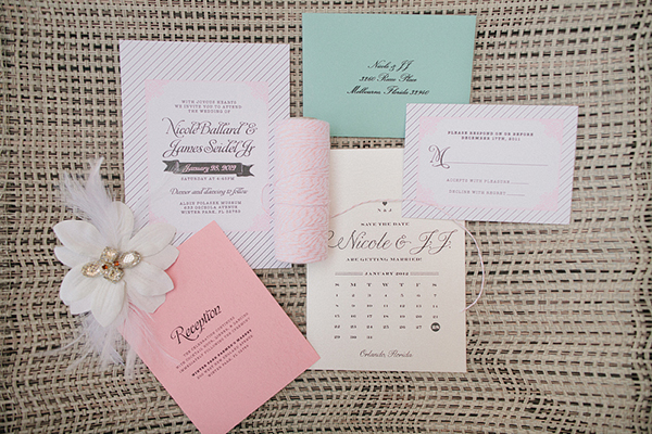 Cute Pastel wedding invites