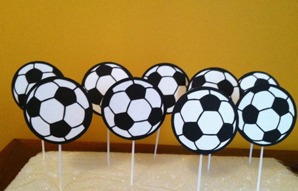 Etsy Find- Soccer Ball Cupcake Topper