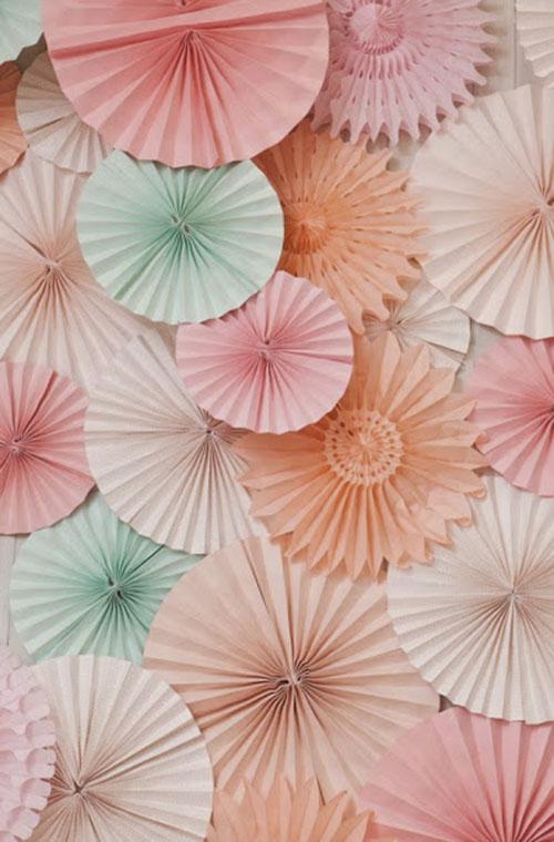 Pastel Paper decorations
