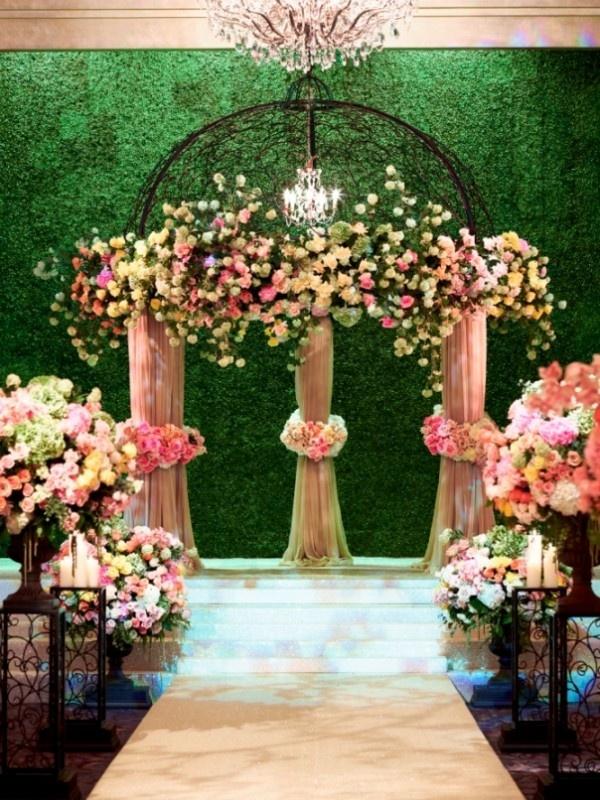 Pastel wedding arch