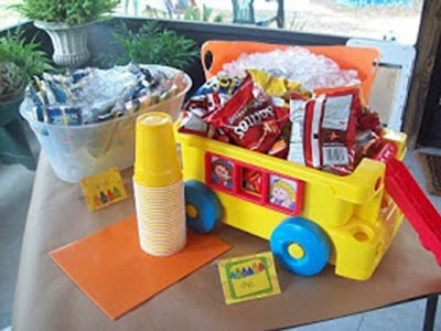 Back To School Party Snack bus!