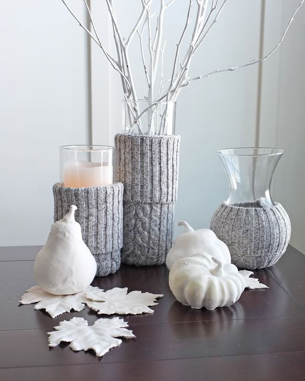 Awesome Gray Swater Candles