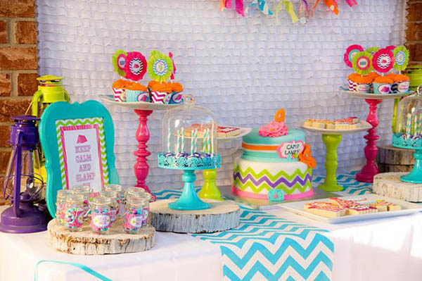 Colorful glamping party!