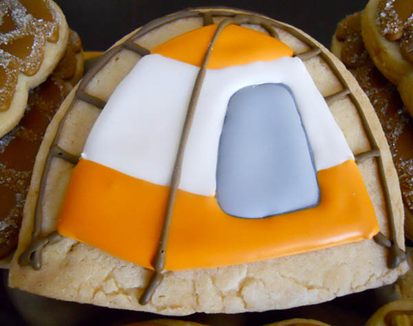 Love this camping tent sugar cookie!
