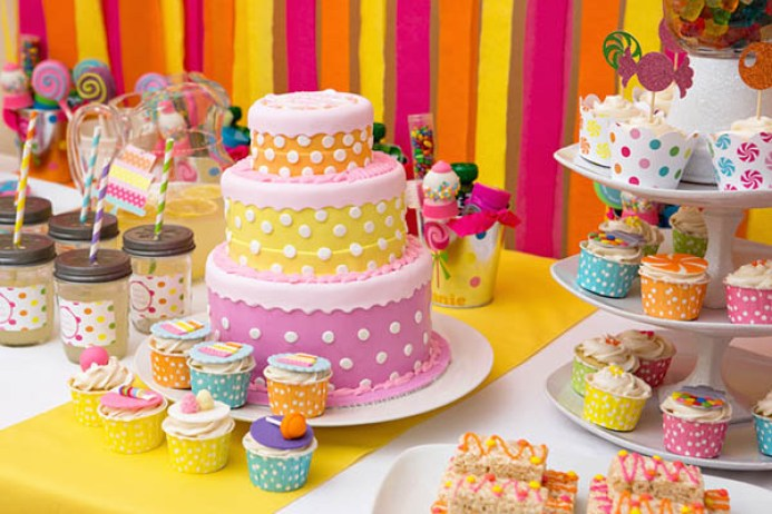 Sweet Shoppe Birthday Party Cake