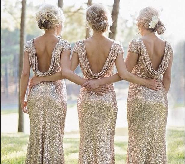 Adoring Thes Gold Glitter Bridesmaid Dresses