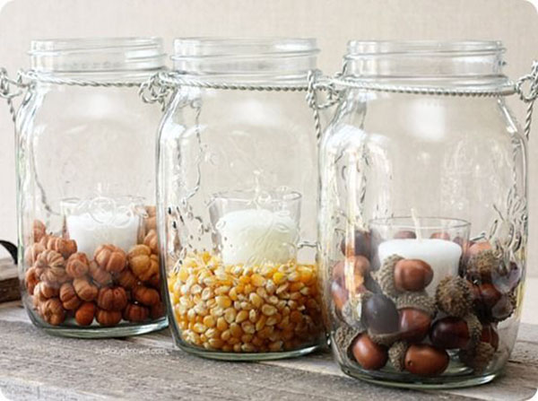 Amazong Fall filled Jars