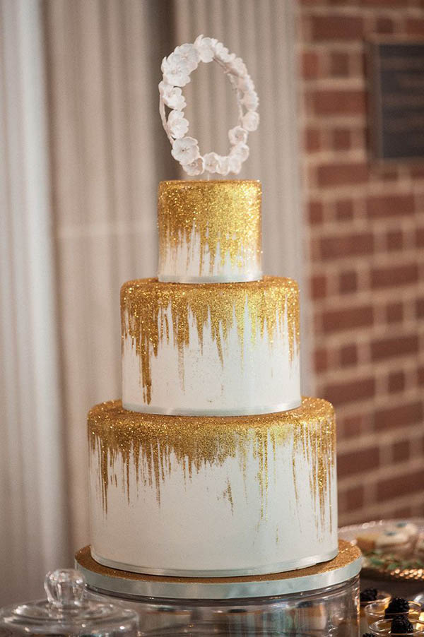 gold glitter wedding cakes lovely gold glitter wedding ideas b lovely events 14782