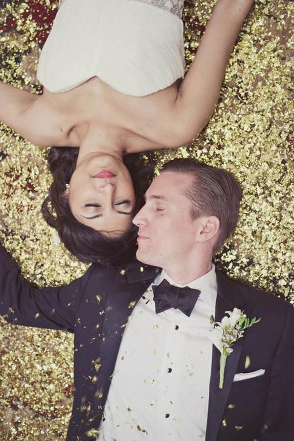Gold Glitter Wedding Ideas!