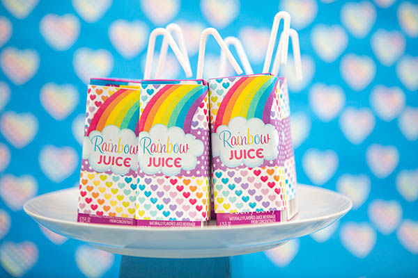 Rainbow Unicorn Juice Boxes