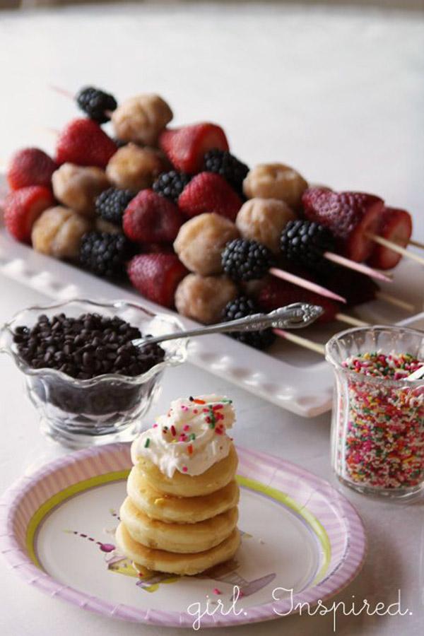 Mini pancake stacks- adorable